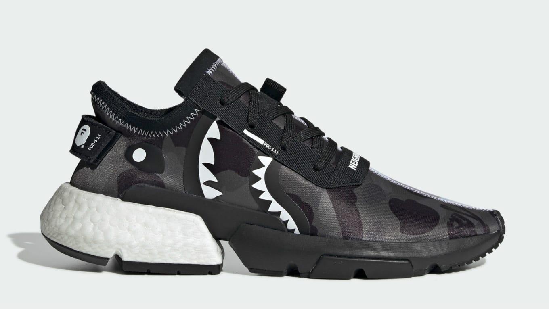 d4efedef6eb7e Bape x Neighborhood x Adidas POD-S3.1 Core Black Cloud White Core Black