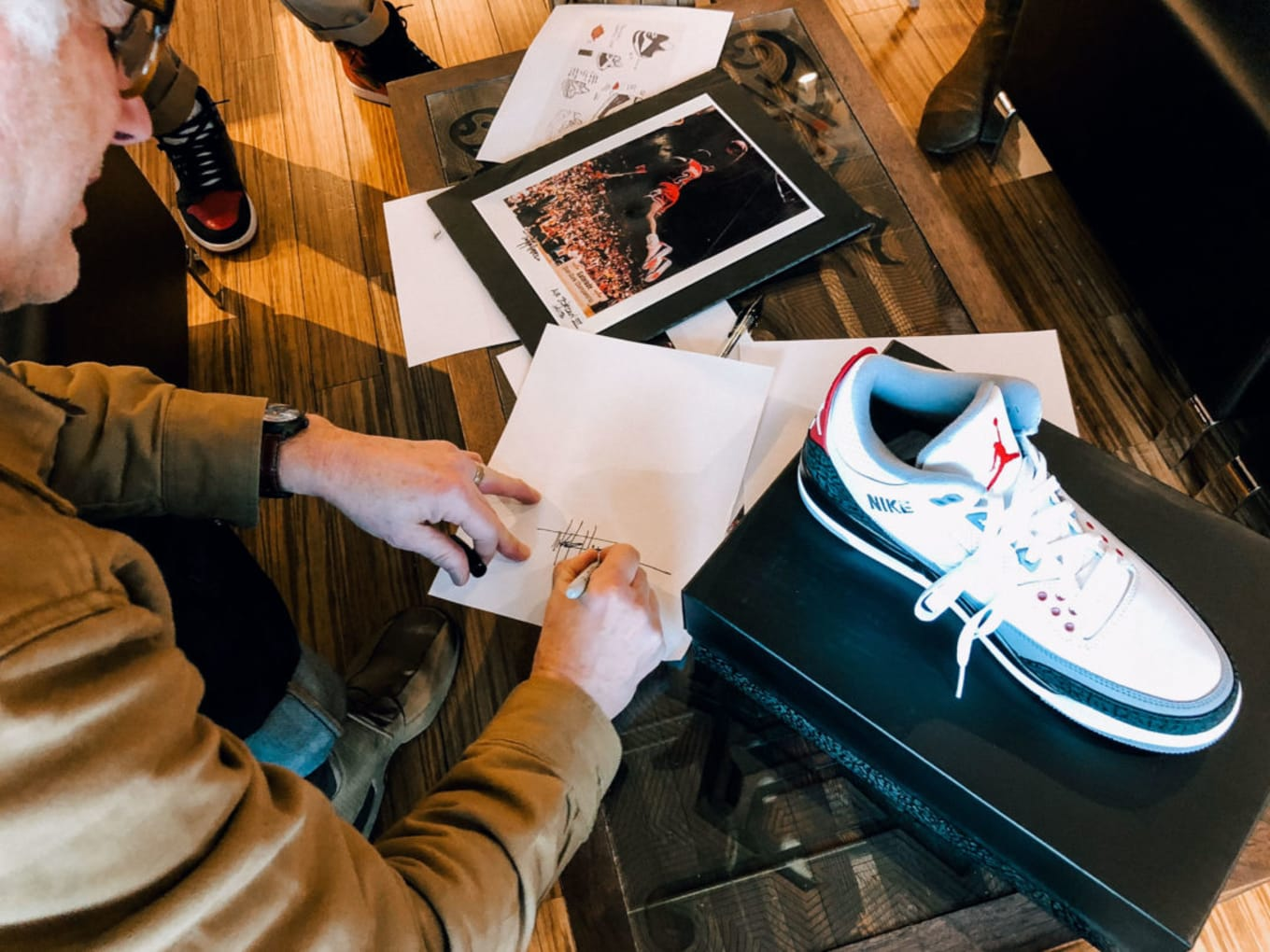 b7098c3d85b4b4 Tinker Hatfield Took the Swoosh Off the Air Jordan 3 to Piss Off Nike. The  legendary designer explains his original concept for the sneaker.
