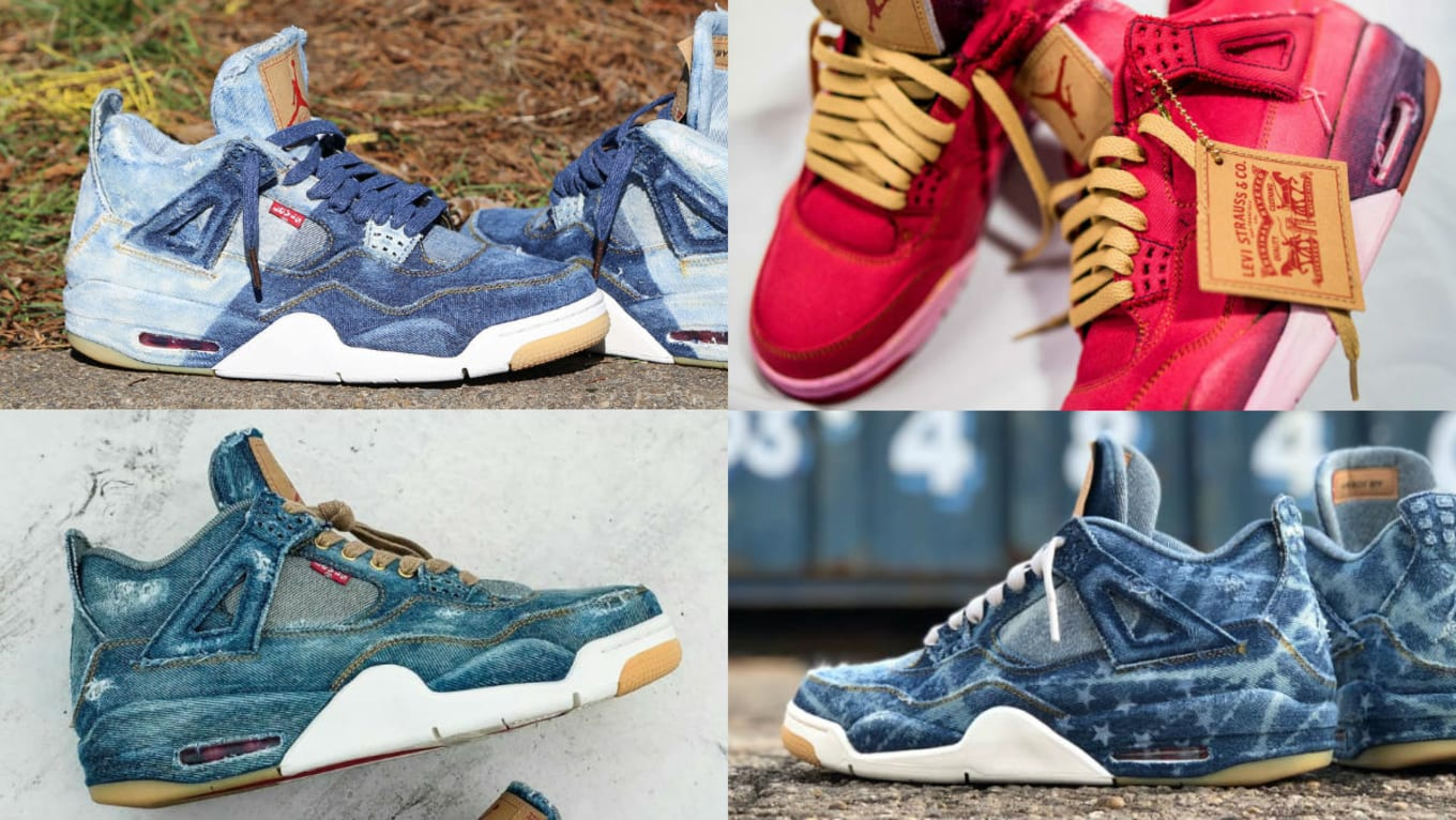 20 Ways People Have Customized the  Denim  Levi s x Air Jordan 4 Retro 6c6f4d113398