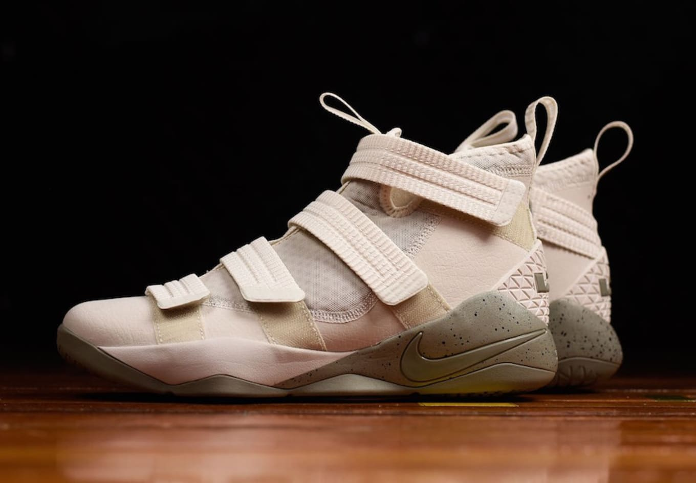 fdb0d9555d7e Nike LeBron Soldier 11 Light Bone Dark Stucco Release Date 897646 ...