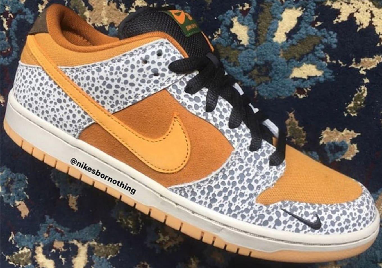 świeże style brak podatku od sprzedaży atrakcyjna cena Nike SB Dunk Low Safari Release Date Toe | Sole Collector