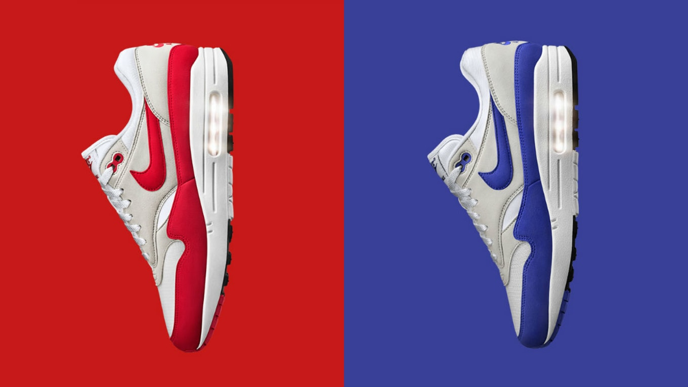 Nike Air Max 1 OG Anniversary Red Blue Release Date 908375-100 ...