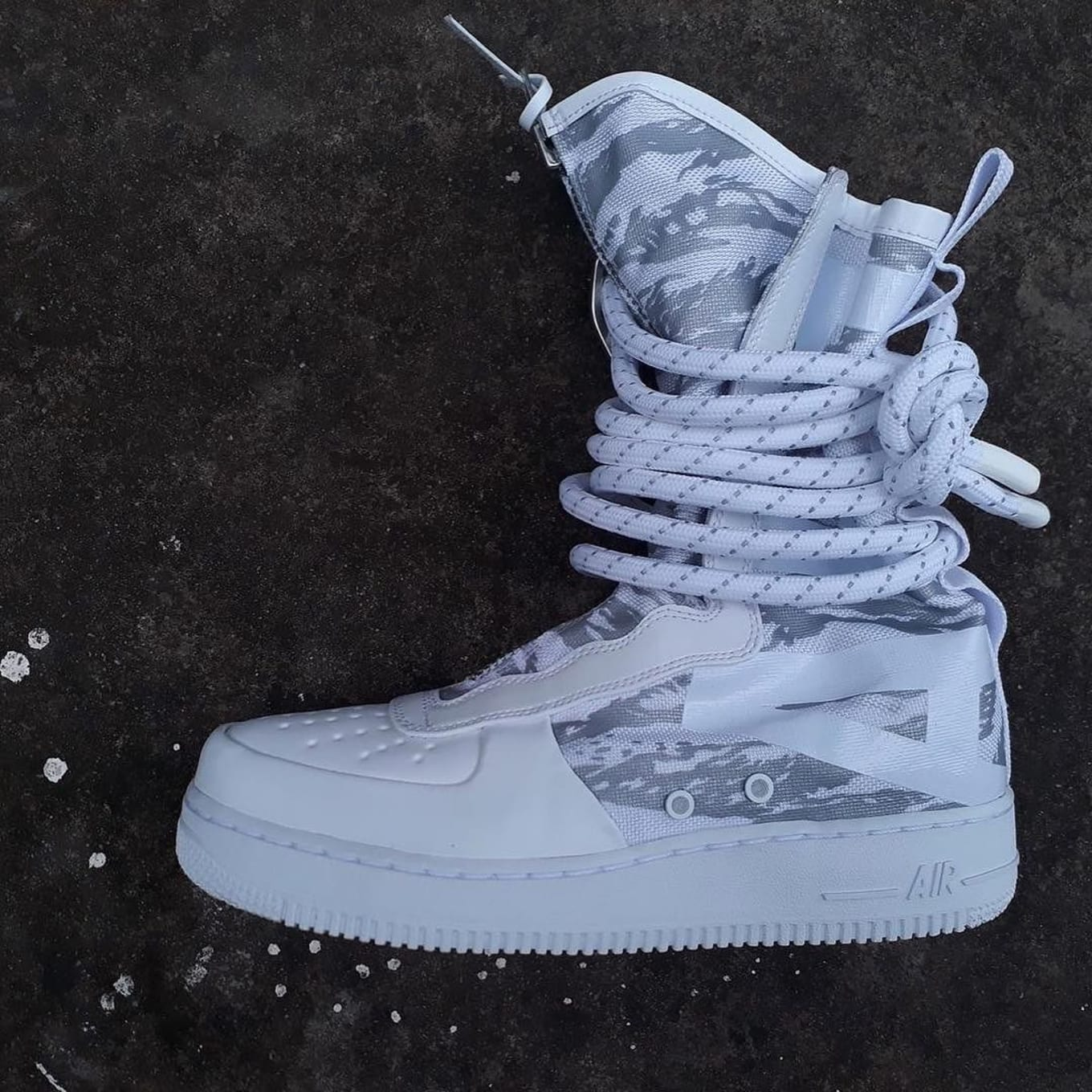 694cf19637d0 Nike Air Force 1s Just Keep Getting Crazier. Ultra-high Special Field Air  Force 1 in white   ...