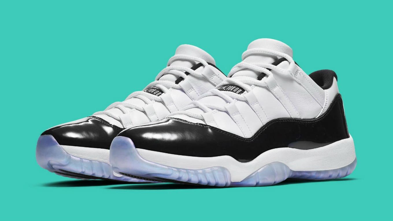 97258d8e428332 Air Jordan 11 Low Easter White Black Emerald Rise 528895-145