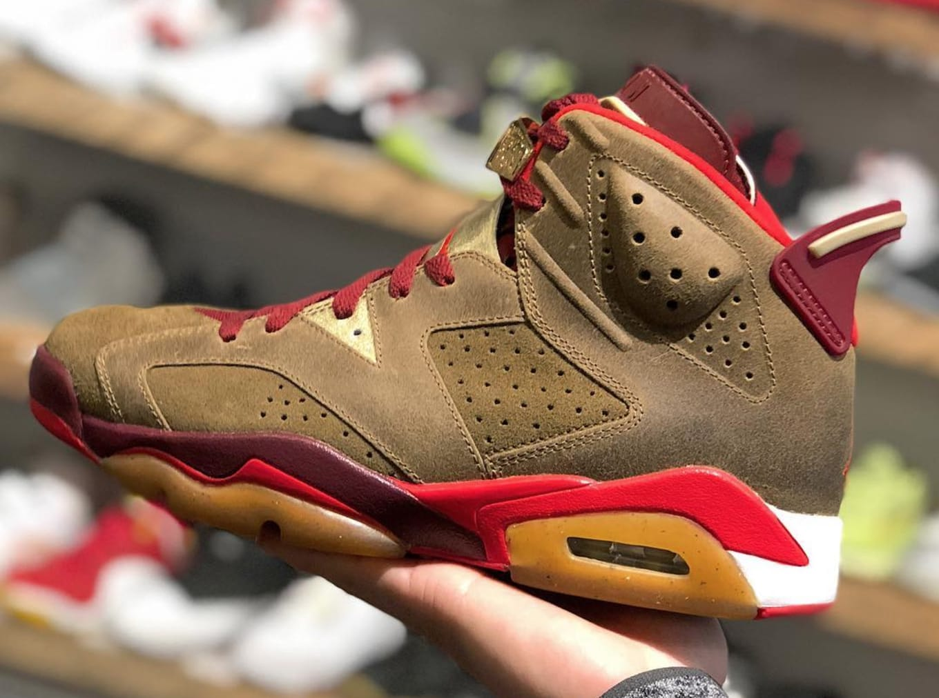 0cf695f4d95 Air Jordan 6 sample surfaces at consignment store.