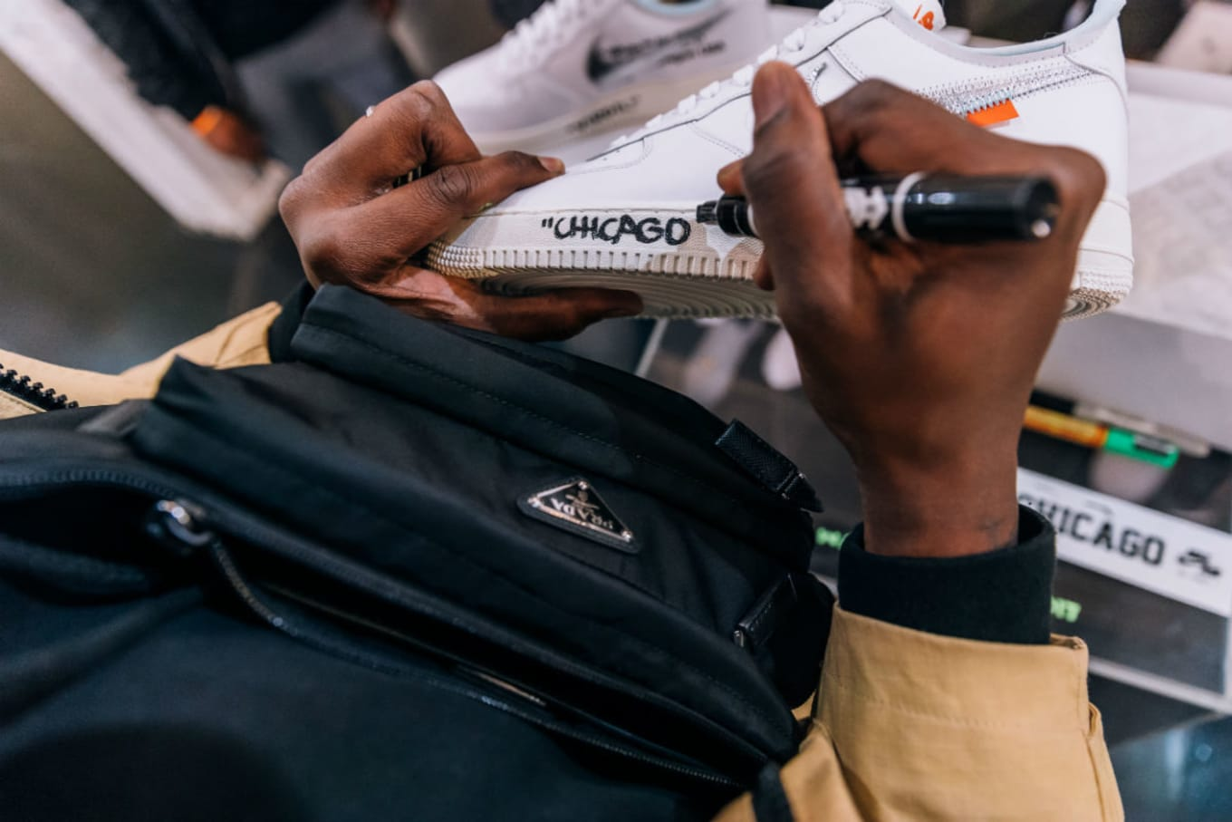 f873b547a90b ... Travis Scott Celebrated the Air Force 1 in Chicago. Nike gathers its  creators in the Windy City.