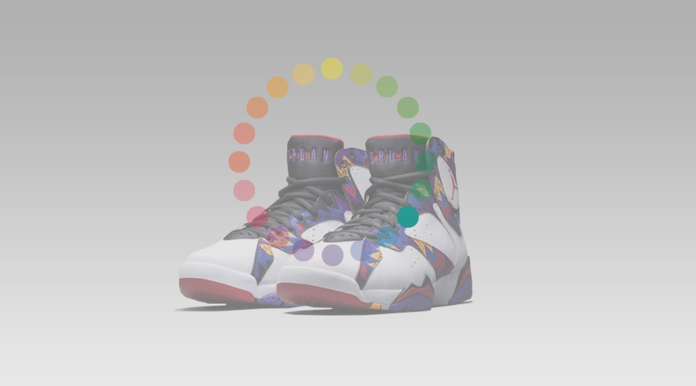 cheap for discount e98e6 bfe60 The Air Jordan 7 originally released in 1992 and was once again designed by  Tinker Hatfield. Unlike the previous four models, the 7 did away with the  ...