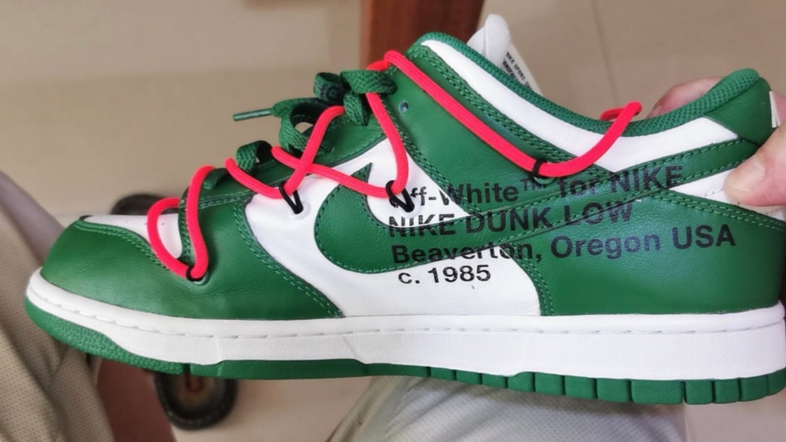 """Off-White x Nike Dunk Low """"Pine Green"""" s Revealed: First Look"""