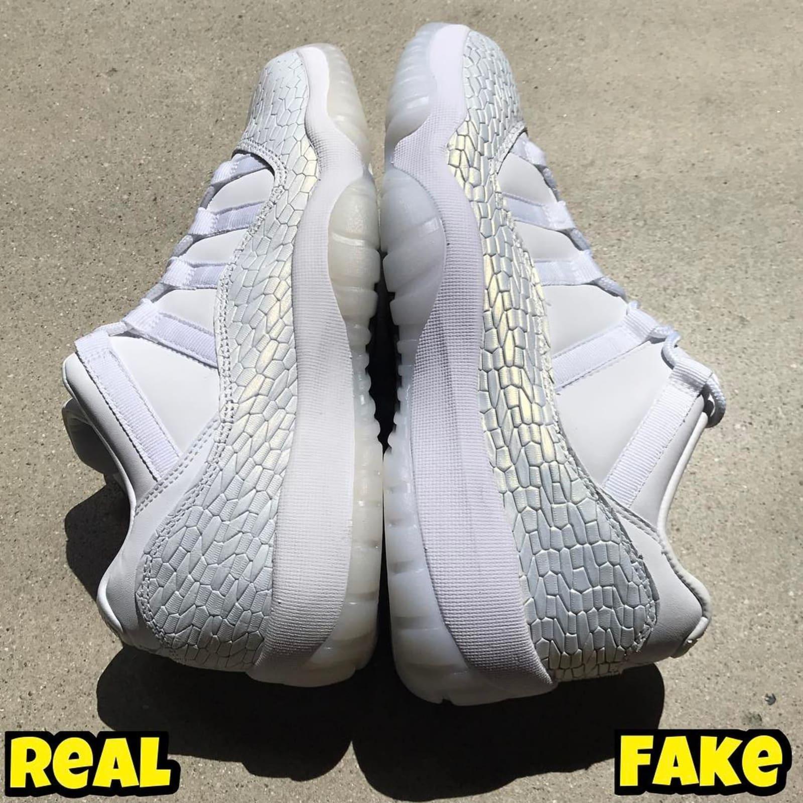 f10da080e5236b Air Jordan 11 Low White Heiress Real Fake Legit Check