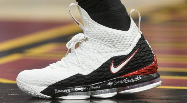 bc11ddf0765 #SoleWatch: LeBron James Debuts LeBron 15 Inspired by His First Sneaker