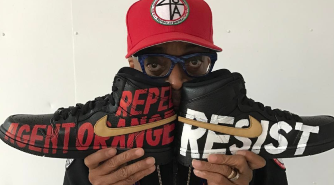 Spike Lee Uses His Jordans to Protest President Trump 3e87e12c3