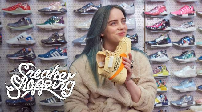 0706f3d00c60e9 Billie Eilish Goes Sneaker Shopping With Complex