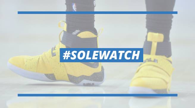 super popular 9764b 9fc54  SoleWatch  LeBron James Has Rough Night in New Nike Soldier 10 PE