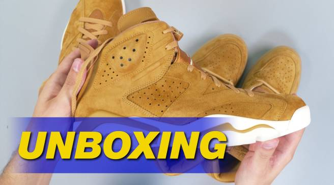 online retailer 12c5e 97974 Air Jordan 6 Wheat Unboxing 384664-705