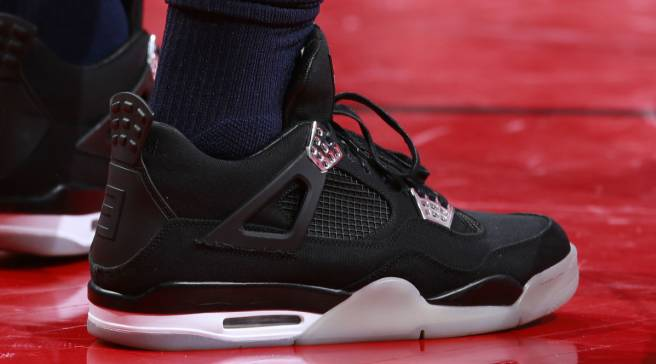 ccc13ed6 Jimmy Butler Really Played a Game in $20,000 Eminem Air Jordans