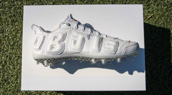 be1a009a0c1 Another Nike Air More Uptempo Cleat for Odell Beckham