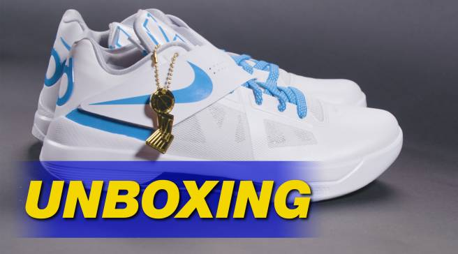 info for 0f590 65f00 Watch Us Unbox the  Battle Tested  Nike KD 4 Retro