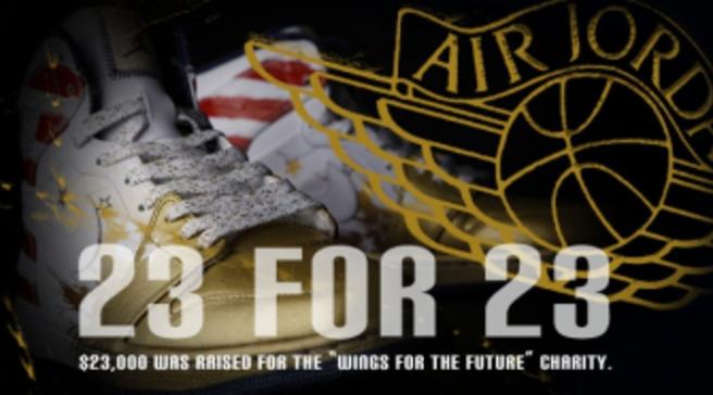best authentic 6dbde 86916 23 for 23: Dave White Air Jordan I Retro Auctions Raise 23K for WINGS
