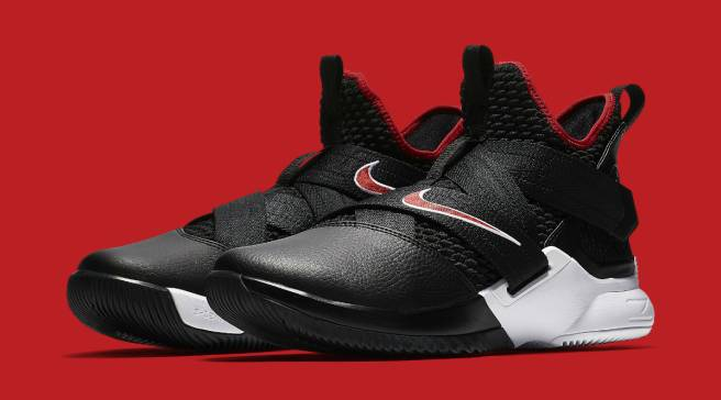 huge selection of 6cced c85c1 The Nike LeBron Soldier 12 Is Releasing in a  Bred  Colorway