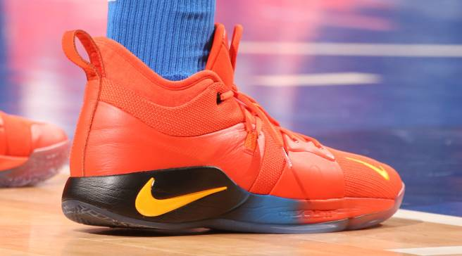 SoleWatch  Paul George Debuts the Nike PG2 in Orange 31cfe940f