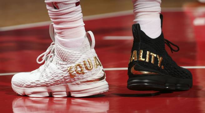 45b59b19b4 #SoleWatch: LeBron James Sends Message of Equality on Sneakers in D.C.