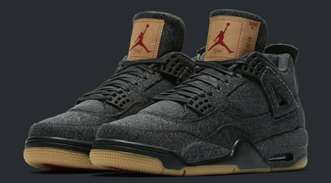 new product 509dd b5d4b The Black Levi s x Air Jordan 4s Drop Next Week