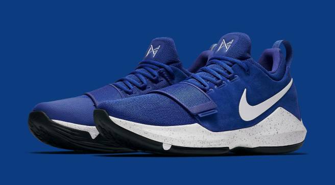Nike Made Blue Suede Shoes for Paul George 2762e5975