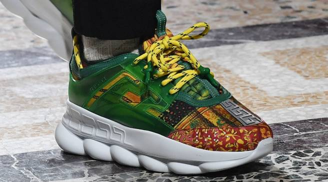 separation shoes 34a06 c535d 2 Chainz  Versace Unveil the Chain Reaction Sneaker in Milan