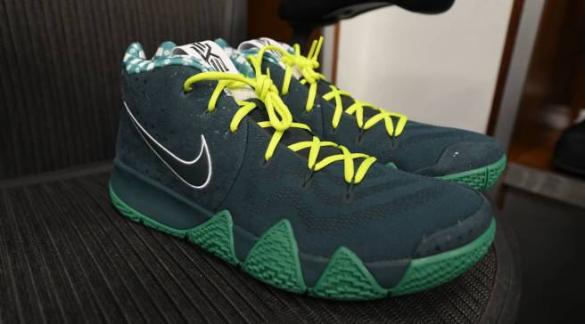 low priced 5d28d cb2e4 #SoleWatch: Jayson Tatum Debuts 'Green Lobster' Nike Kyrie 4