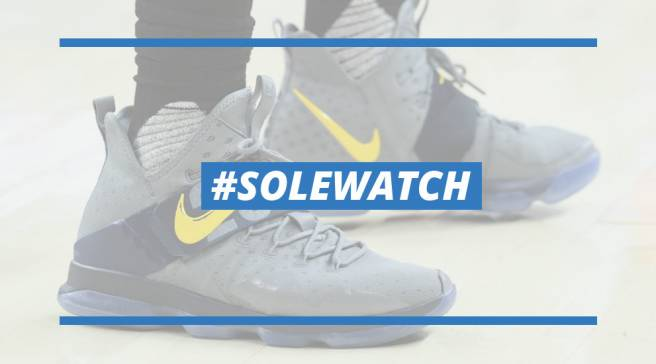 newest 20d67 1d8da  SoleWatch  LeBron James Doesn t Hold Back in New Nike LeBron 14 PE