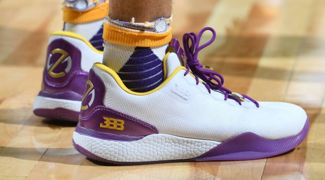 cfae91179f93  SoleWatch  Lonzo Ball Wears Big Baller Brand Sneakers in Lakers Debut