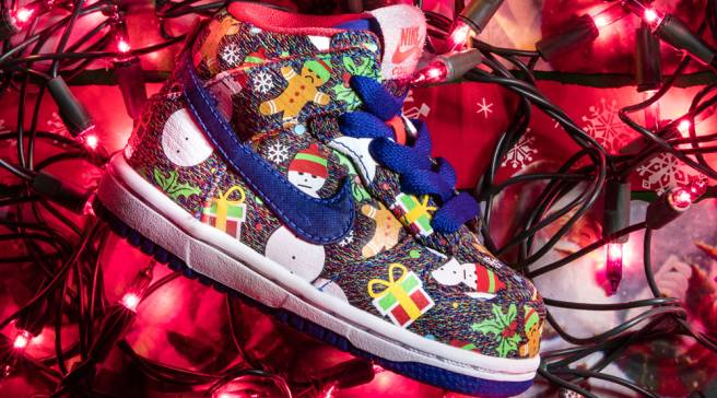 4e47b72e25e2 Nike SB Ugly Christmas Sweater Dunks 2017 Concepts 3