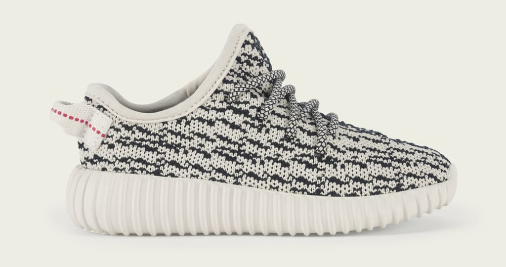 A list of stores carrying the adidas Yeezy 350 Boost in baby sizes.