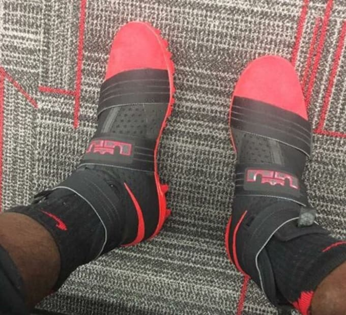 8624d731ca8 ... purchase ohio state gets exclusive nike lebron cleats. soldier 10s  turned into cleats . d6d37