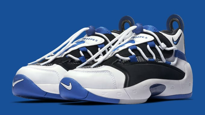 sports shoes 3b545 7592e ... coupon code low cost nike air swoopes 2 white black blue cb9a9 91918  37494 a6b5b