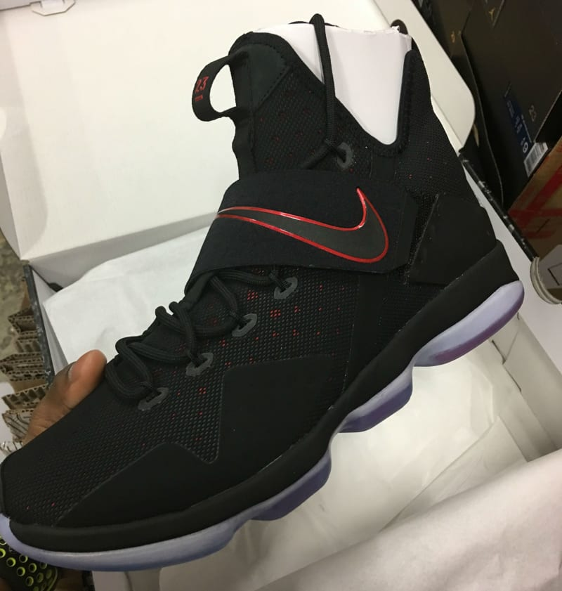 1aa194f580f Nike LeBron 14 Black/Red Release Date 852405-004 | Sole Collector