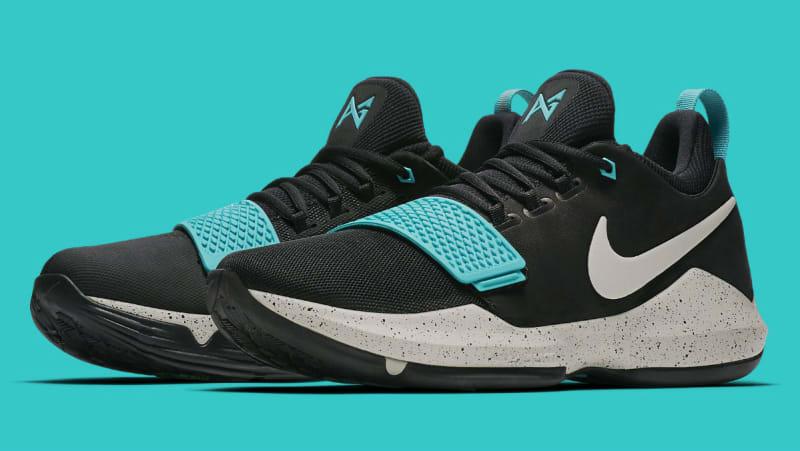 Nike PG 1 Black White Blue Sole Basketball Shoes For Women