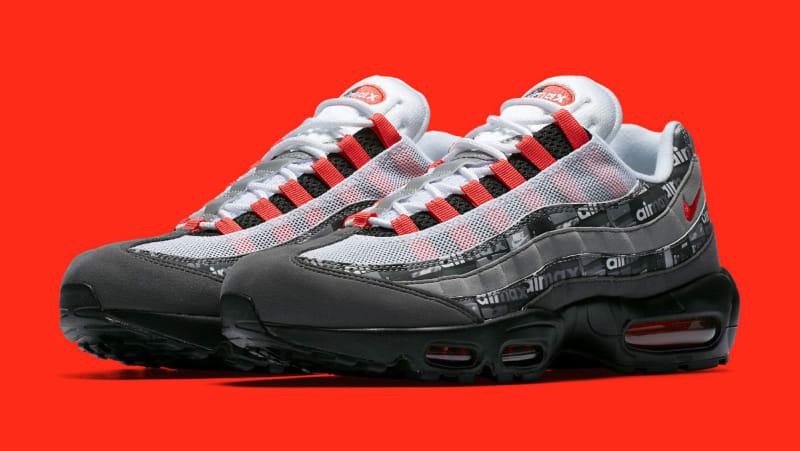 Atmos X Nike Air Max 95 Print WE LOVE NIKE Black Orange Grey Sneakers AQ0925002