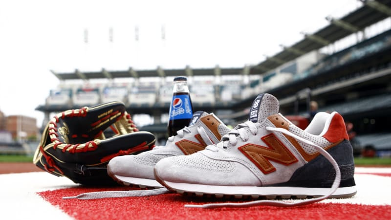 New Balance and Pepsi Create Sneakers for Platinum Glove Winner. Francisco  Lindor blessed with a wild pack of 574s.