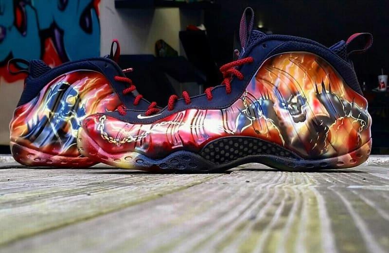 c0c5d6ae4e8ba7 ... Ghost Rider by Dez Customz nike foamposite spiderman Nike ...