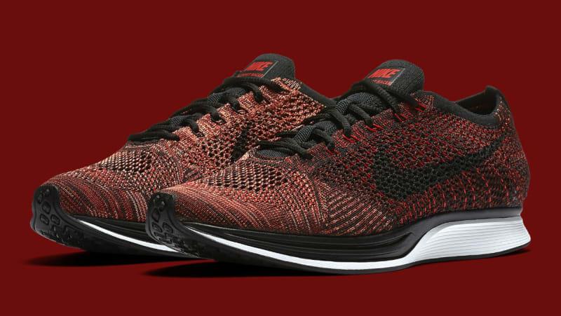 0d590c06ad4c ... red black Nike Flyknit Racer ...