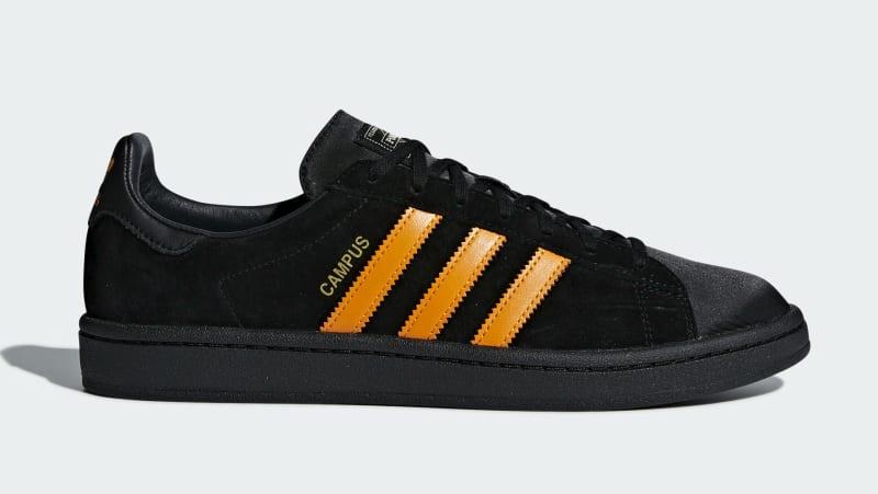 Mens Adidas Campus Porter Core Black Orange B28143