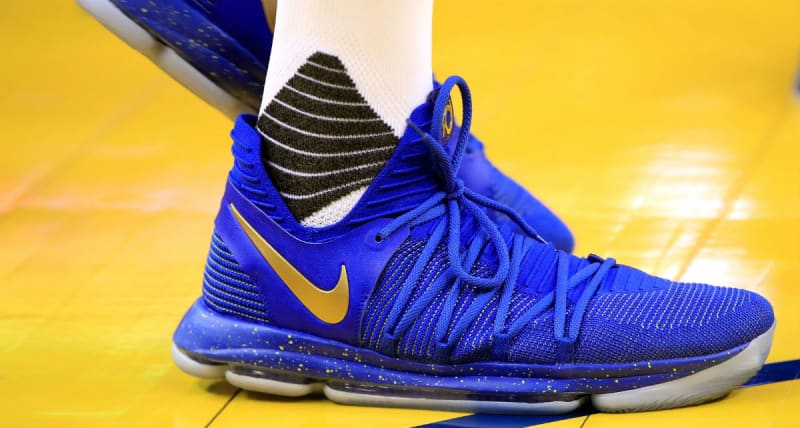 check out dcf26 fdd13 ... Nike KD 10 Blue Finals PE Sole Collector ...