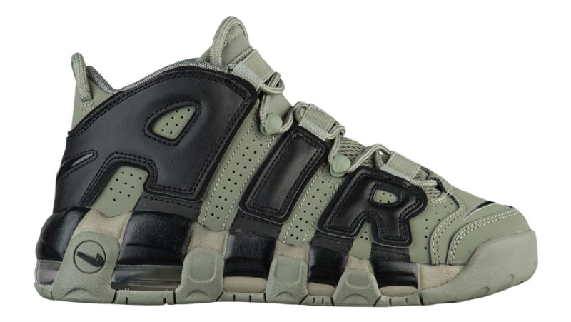 Discount Nike Air More Uptempo Dark Stucco Black Basketball Shoe For Sale