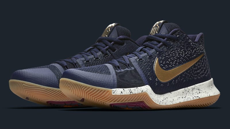 Nike Basketball Shoes Kyrie  White And Gold