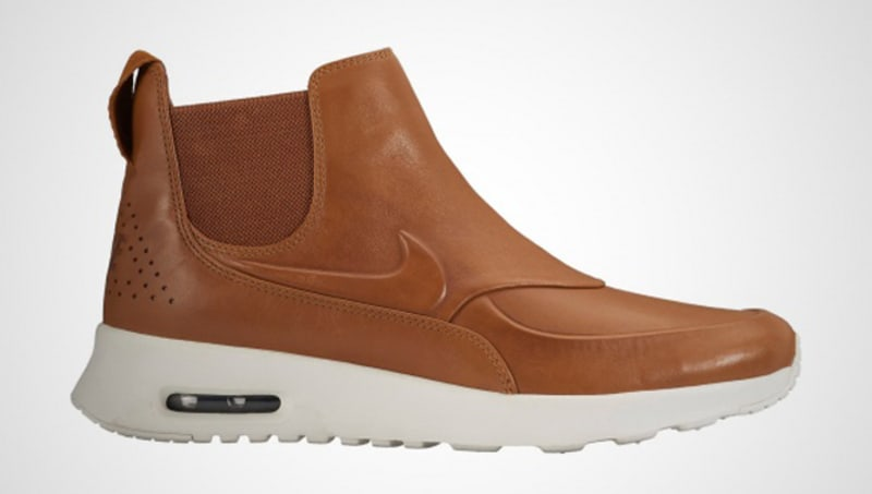 brown leather nike air max thea
