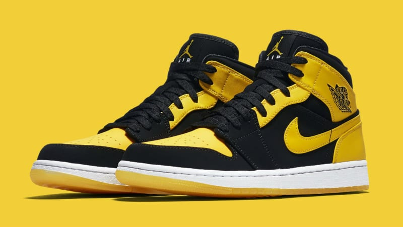 air jordan retro 1 mid black and yellow