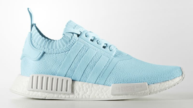 Buy Discount UA NMD R1 W Geometric Camo Blanch Blue Collegiate