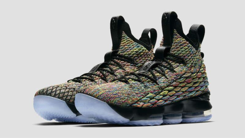Nike Lebron 15 XV Multicolor Black Four Horseman Size 15. 897648-901