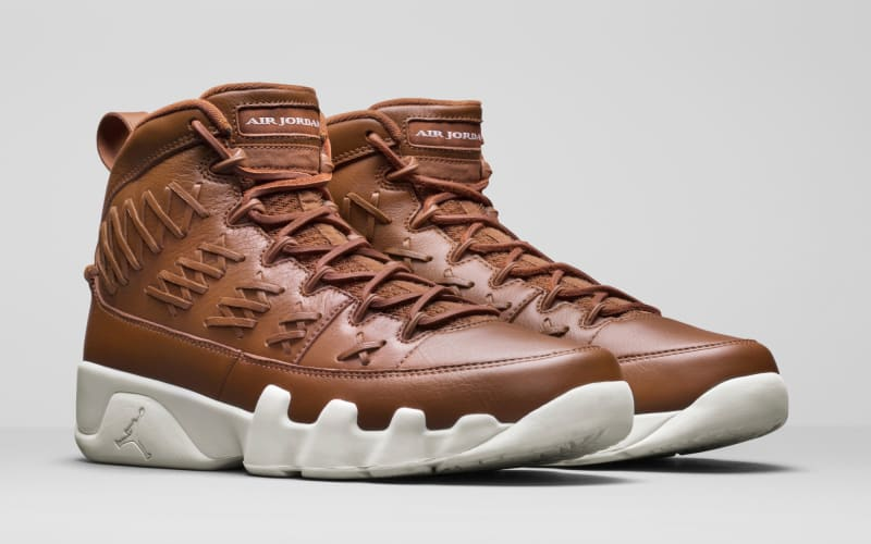 2017 Cheap Air Jordan 9 Pinnacle Baseball Glove Brown Shoes